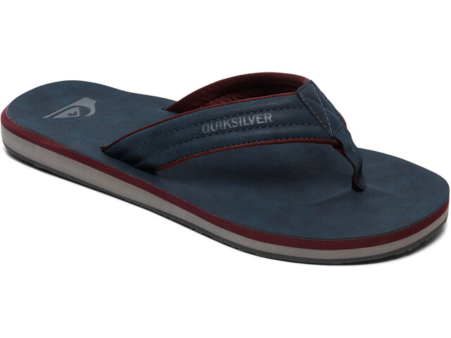 Quiksilver Carver Nubuck Sandali Uomo, blue/red/grey